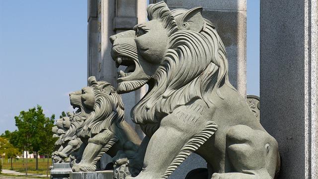Chinesische Loewenstatuen